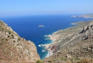 Beautiful scenery - the beach below is called Plaka