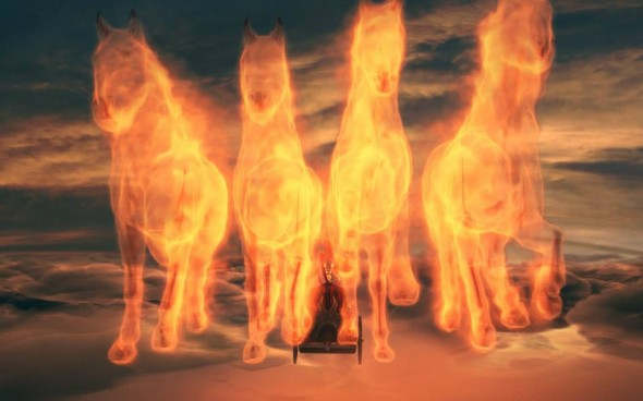 horses from thrones of Helios